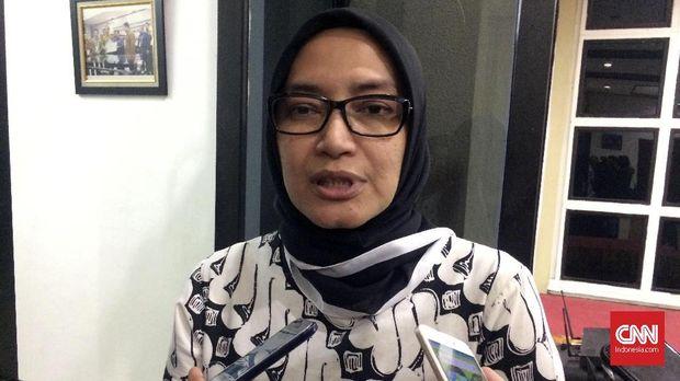 Komisioner Komisi Pemilihan Umum (KPU) Evi Novida Ginting di kantor KPU, Jakarta, Selasa malam (10/7).