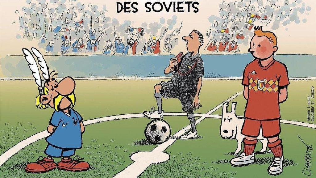 Prancis Vs Belgia dalam Meme Asterix Vs Tintin