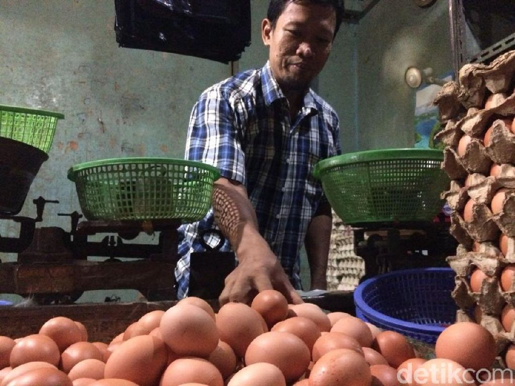 Telur Ayam Rp 28.000/Kg, Pedagang: Pembeli Tanya, Kok Mahal?