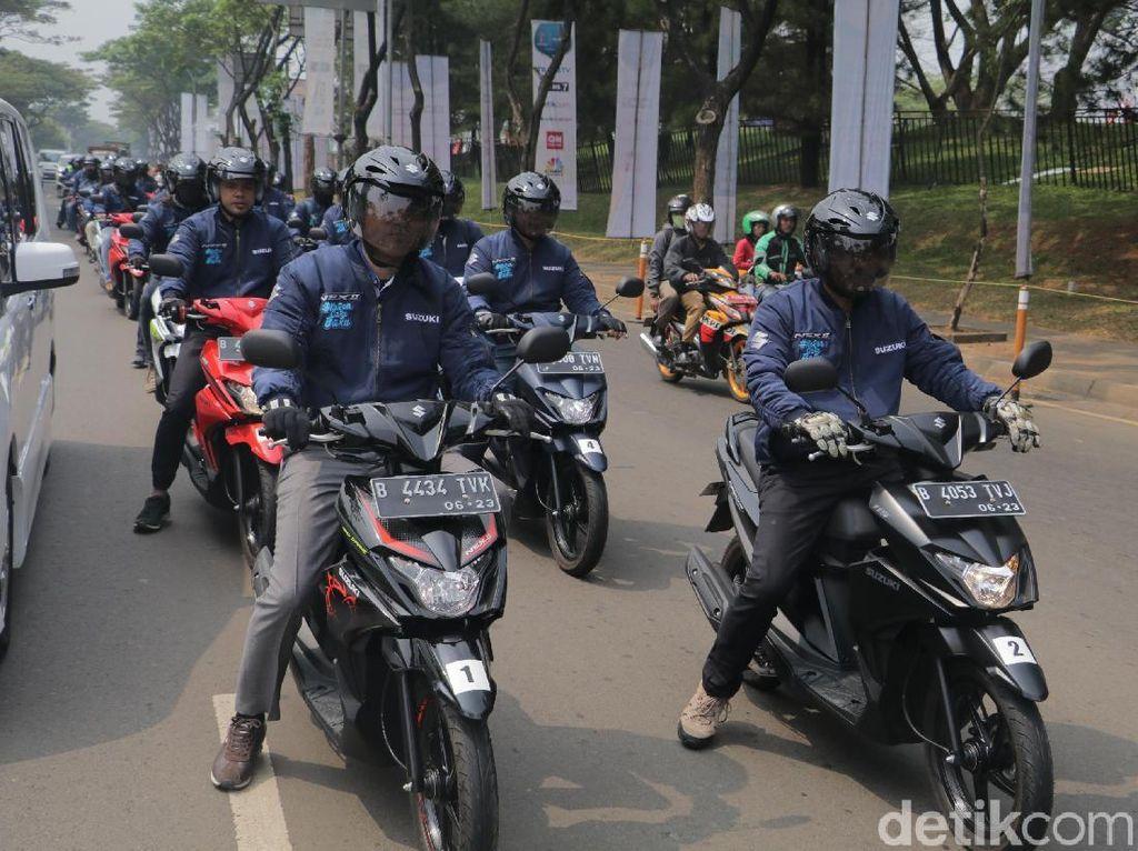 Suzuki Ketolong Skutik Nex dan Satria