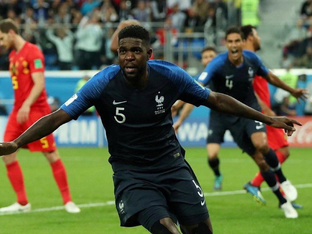 Sundulan Umtiti Antarkan Prancis ke Final Piala Dunia 2018