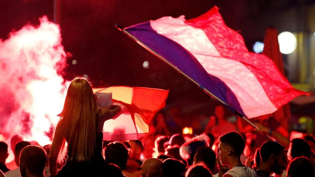 Prancis ke Final, Suporter Berpesta