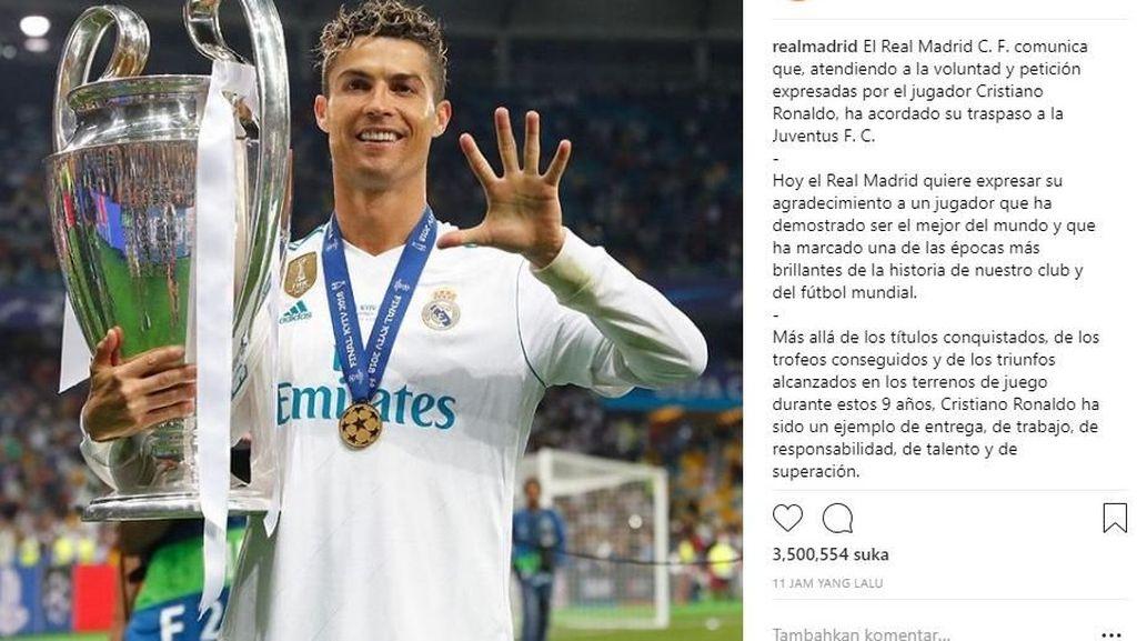 Penggawa Real Madrid Kompak Lepas Ronaldo