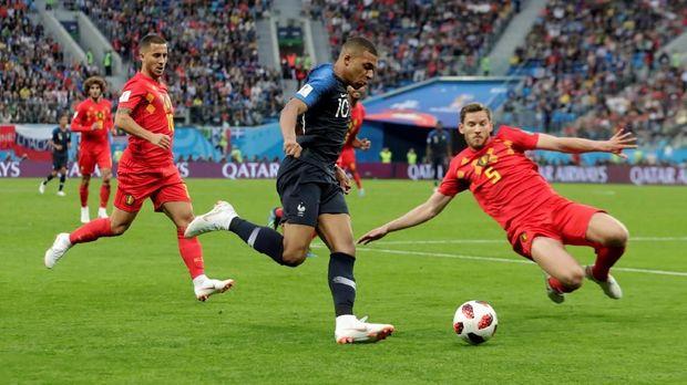 Kylian Mbappe sukses diredam permainannya oleh Belgia.