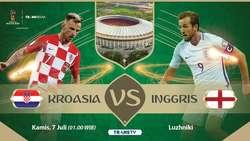 Live Report Piala Dunia 2018: Kroasia vs Inggris