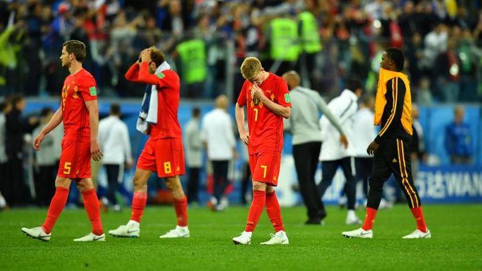 Kekecewaan para pemain Belgia setelah kalah dari Prancis di semifinal Piala Dunia 2018 (Foto: Dylan Martinez/Reuters)