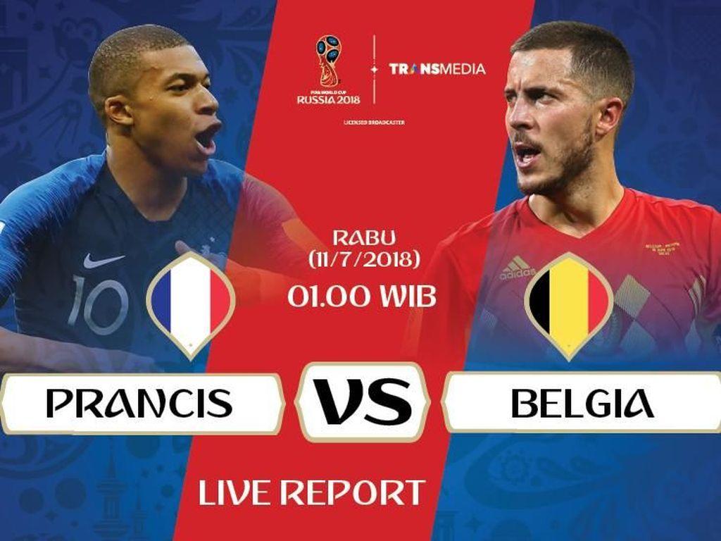 Live Report Piala Dunia 2018: Prancis Vs Belgia