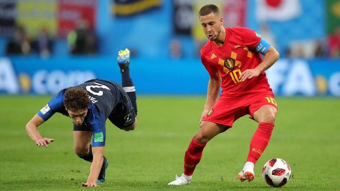 Duel Timnas Prancis dan Belgia di semifinal Piala Dunia 2018 (Alexander Hassenstein/Getty Images)