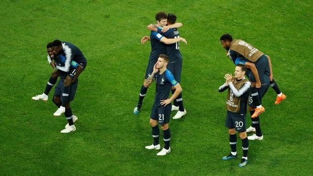Timnas Prancis melangkah ke final Piala Dunia 2018 setelah mengalahkan Belgia di semifinal.
