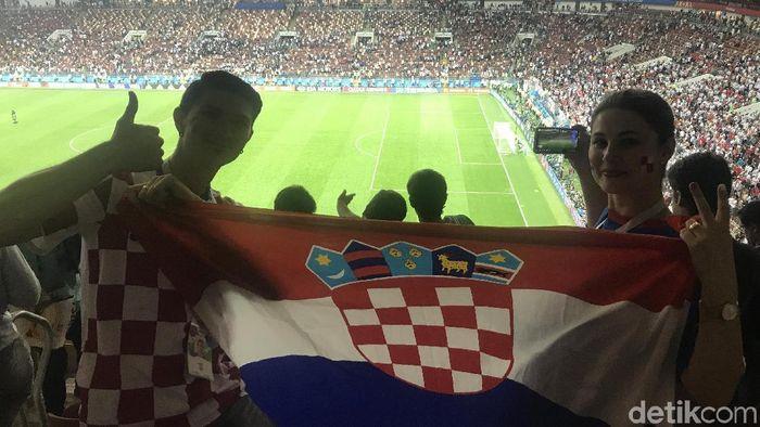 Suporter Kroasia di Rusia (M Resha Pratama/detikSport)
