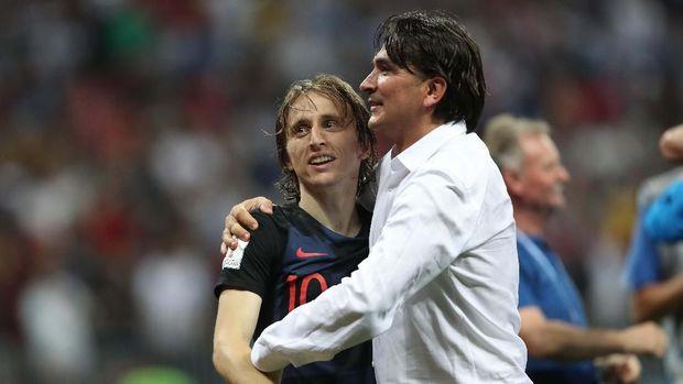 Luka Modric dan pelatih Kroasia Zlatko Dalic
