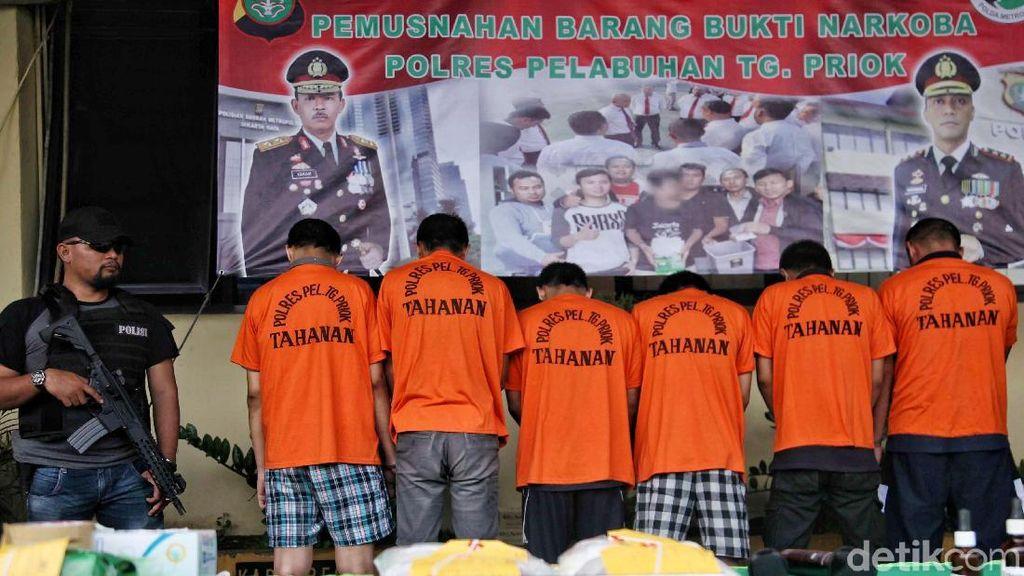 Polres Pelabuhan Tanjung Priok Gagalkan Penyelundupan Narkoba