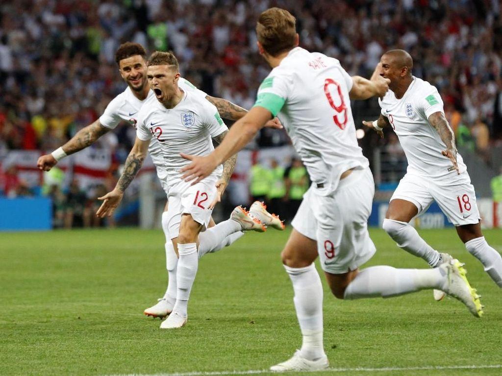 Video: Gol Trippier! Sementara Inggris 1-0 Kroasia