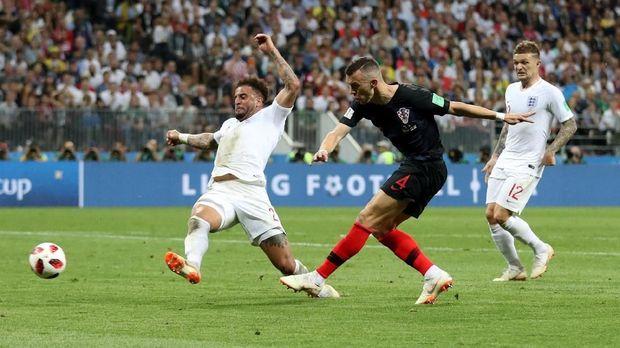Serangan Kroasia lebih berbahaya daripada Inggris di babak kedua.