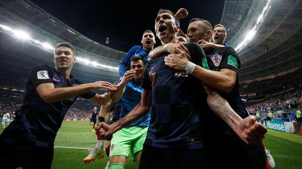 Timnas Kroasia lolos berkat kemenangan melawan Inggris di semifinal Piala Dunia 2018.