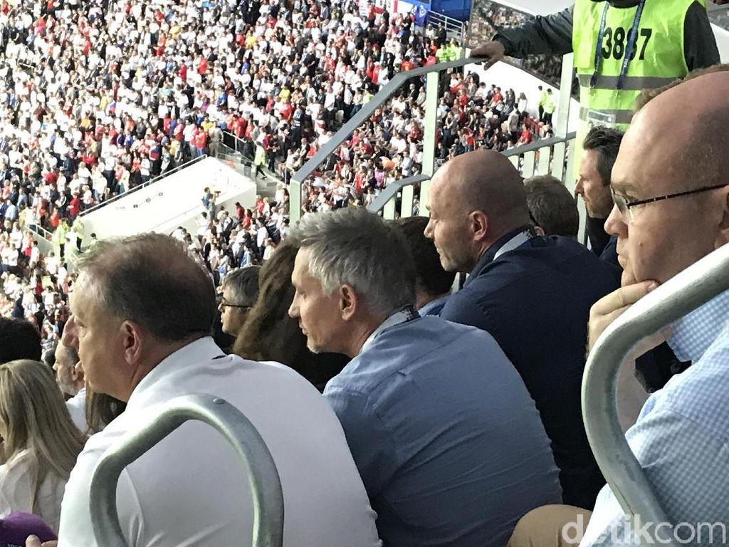 Asyiknya Lineker-Shearer Nonton Inggris vs Kroasia di Luzhniki