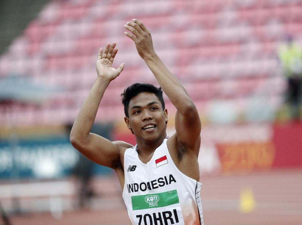 Juara Dunia Lalu Muhammad Zohri Dulu Lari Tanpa Sepatu di Kampung