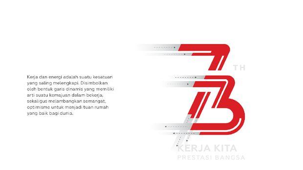 Logo HUT ke-73 RI.