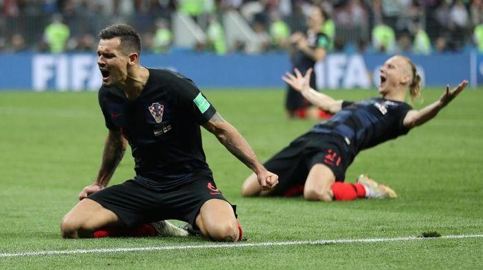 Kroasia lolos ke final Piala Dunia 2018 setelah mengalahkan Inggris (Foto: Carl Recine/Reuters)