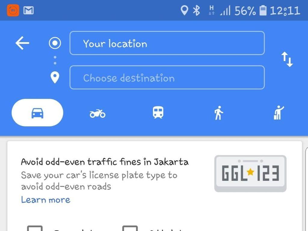 Google Maps Bakal Cari Jalur Aman saat Ganjil Genap