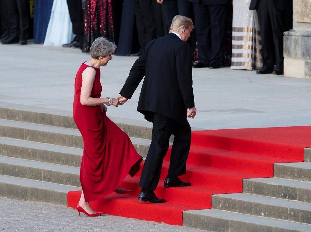 Trump Kampanyekan Anti-Nuklir ke PM Inggris