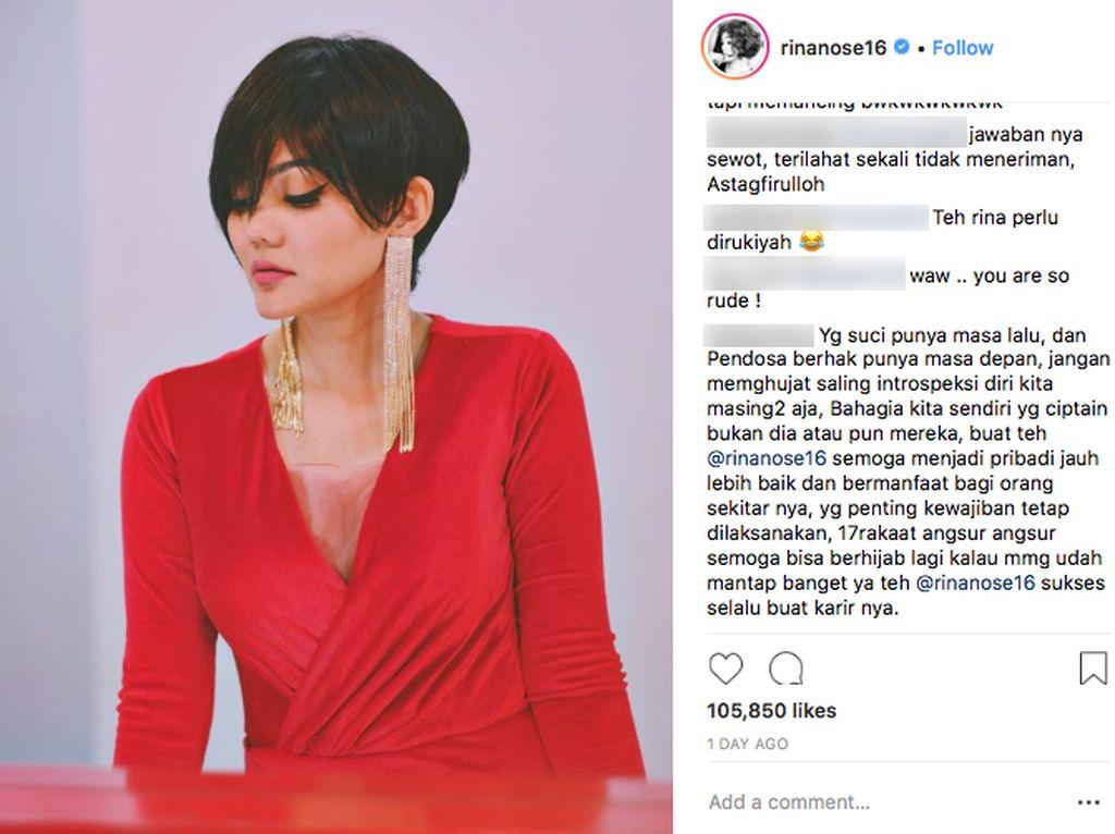 Pro-Kontra Penampilan Rina Nose di Mata Netizen
