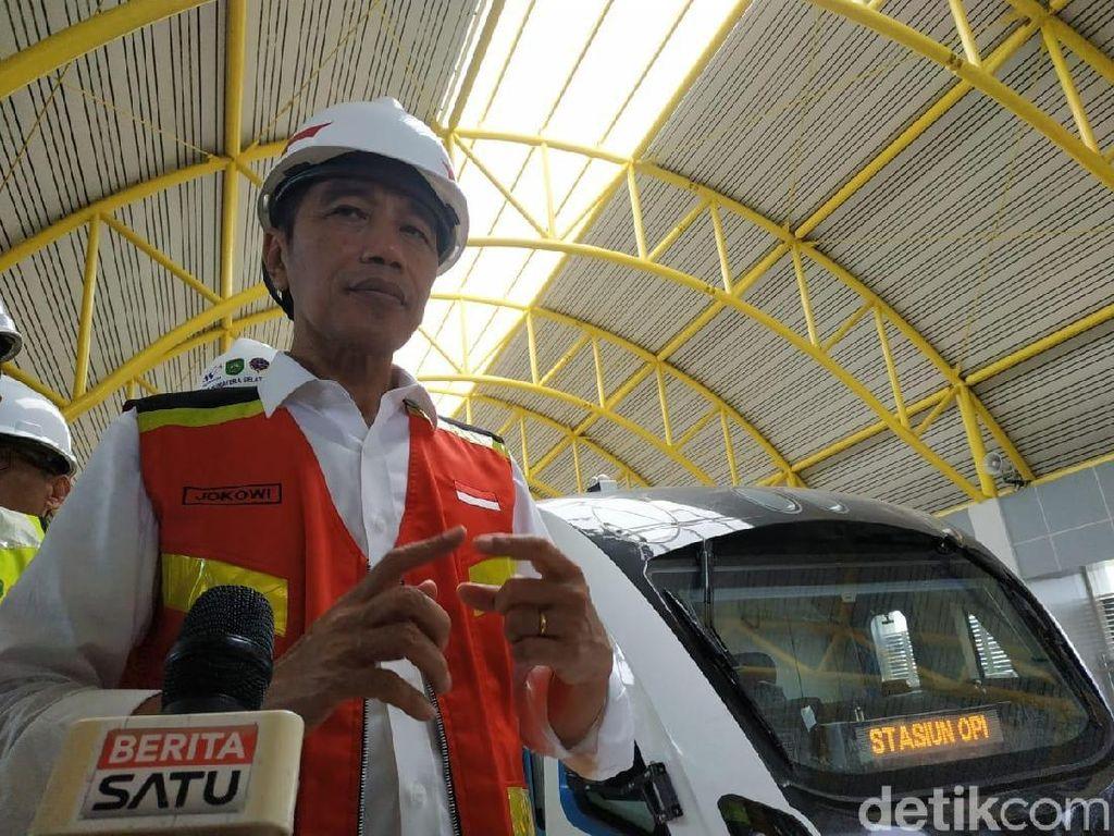Jokowi: LRT Juga akan Dibangun di Surabaya, Bandung dan Medan
