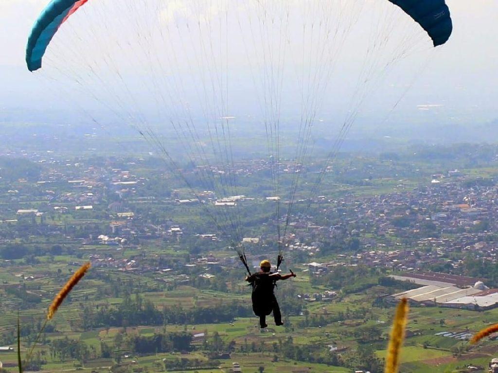 Celebrity on Vacation: Paragliding dari Bukit Torok NTB