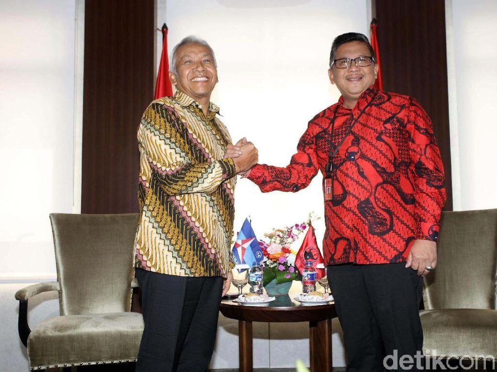 Bahas Politik, Wakil Ketua Wanbin Demokrat Sambangi Kantor PDIP