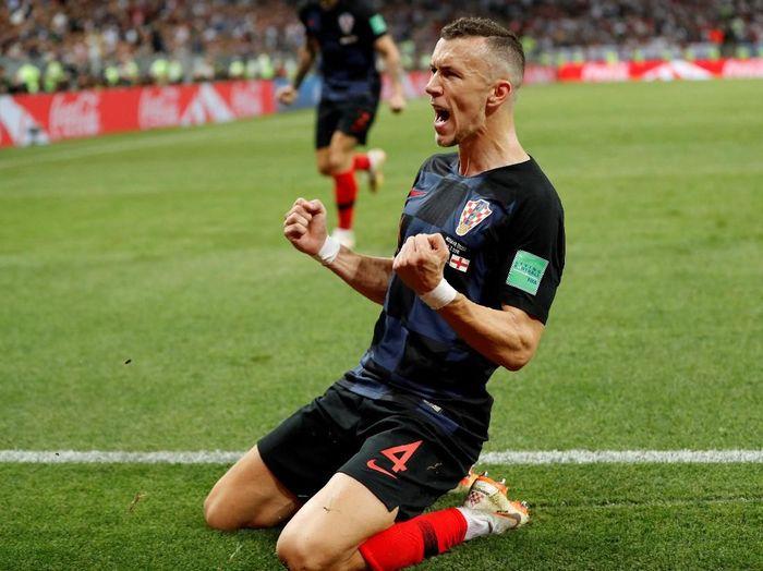 Ivan Perisic merayakan golnya ke gawang Inggris di semifinal Piala Dunia 2018 (Foto: Darren Staples/Reuters)