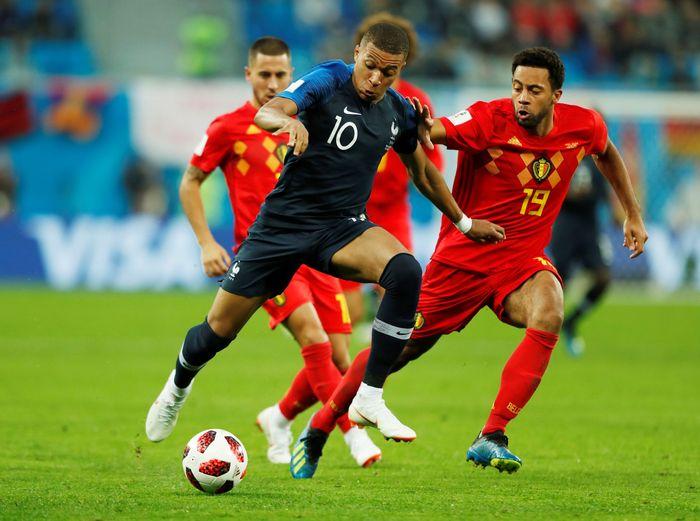 Aksi Kylian Mbappe di Piala Dunia 2018 memesona Kaka (Foto: Lee Smith/Reuters)