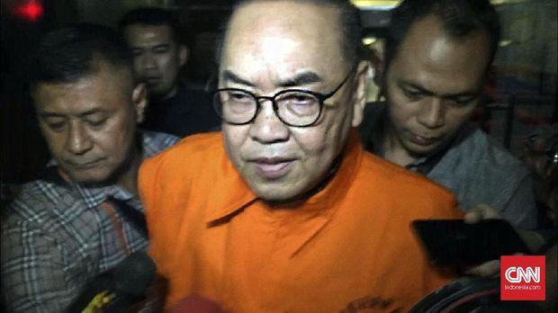 Terdakwa Johannes B Kotjo, di Gedung KPK, Jakarta, Sabtu (14/7).