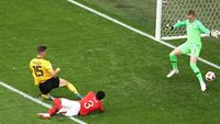 Babak I: Belgia Ungguli Inggris Lewat Gol Cepat Meunier
