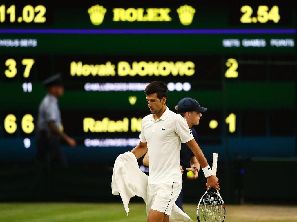 Semifinal Wimbledon: Duel Djokovic vs Nadal Terpaksa Dihentikan