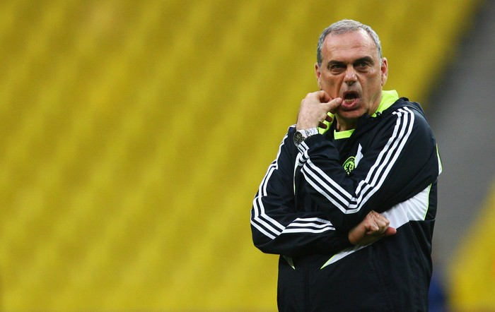 MOSCOW - MAY 20:  Avram Grant, the Chelsea manager watches over the Chelsea training session ahead of the Champions League Final at the Luzhniki Stadium on May 20, 2008 in Moscow, Russia. The Champions League Final will take place in Moscow on May 21, 2008.  (Photo by Alex Livesey/Getty Images)