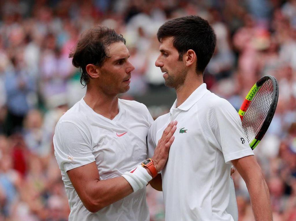 Djokovic ke Final Wimbledon Usai Kalahkan Nadal dalam Lima Set