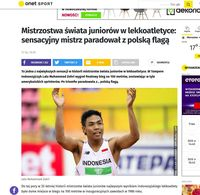 Screenshot berita di media Polandia.