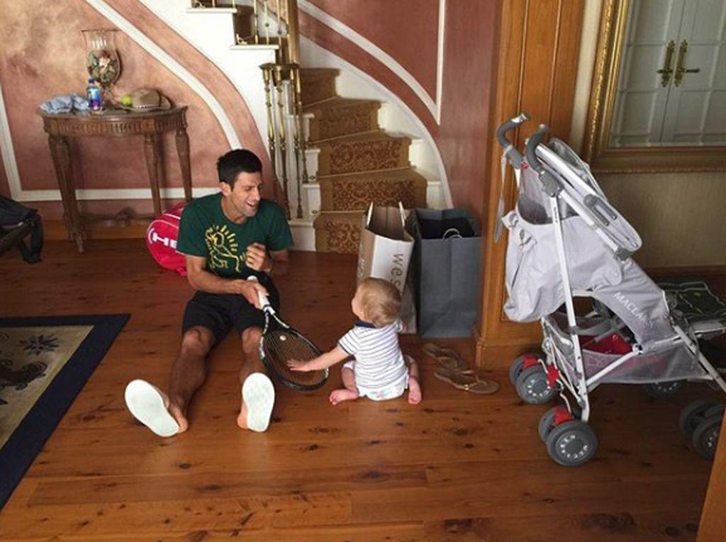 Begini Sisi Kebapakan Petenis Novak Djokovic, Finalis Wimbledon 2018