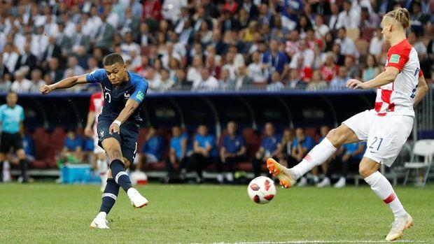 Prancis menang 4-2 atas Kroasia di final Piala Dunia 2018.