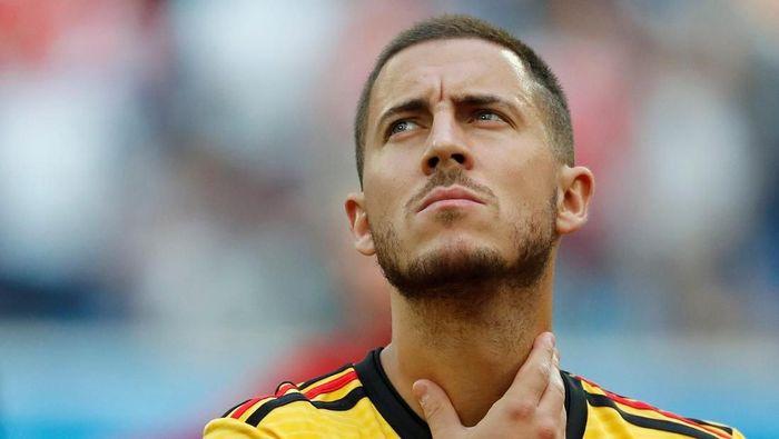 Eden Hazard belum bergabung dengan skuat Chelsea karena masih liburan usai tampil di Piala Dunia 2018 (Foto: Toru Hanai/Reuters)