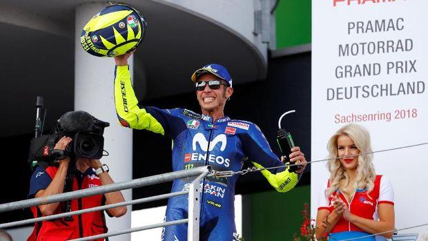 Valentino Rossi menempati peringkat kedua di MotoGP Jerman 2018.