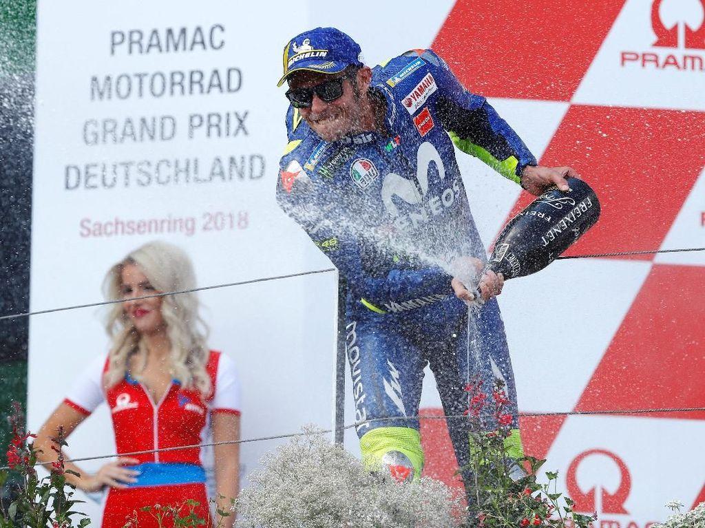 Finis Kedua di MotoGP Jerman, Rossi pun Bisa Liburan dengan Tenang