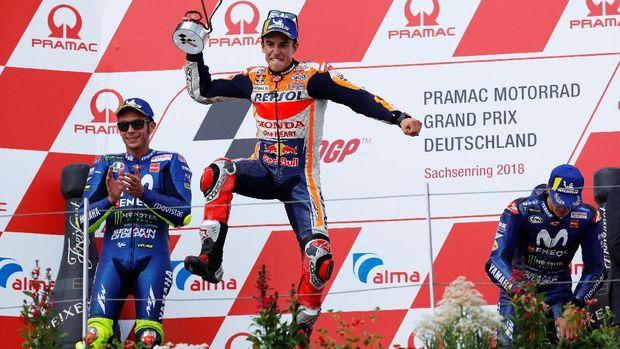 Marc Marquez masih unggul 46 poin atas Valentino Rossi jelang MotoGP Ceko.