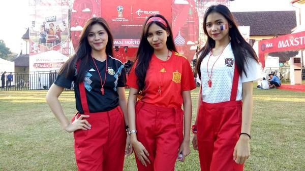 Nobar Piala Dunia di Makassar, 3 Gadis Cantik Ini Unggulkan Kroasia