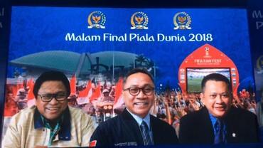 Video: Ketua MPR-DPR-DPD Kompak Nobar Final Piala Dunia