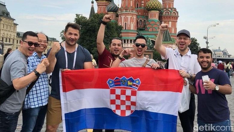 Terhanyut Euforia Pendukung Kroasia Jelang Final Piala Dunia 2018