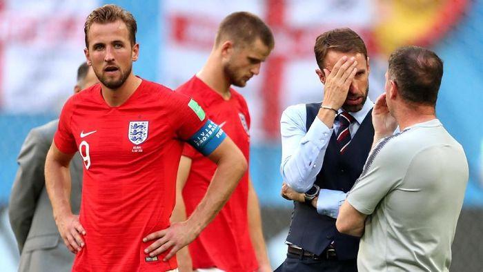 Timnas Inggris kalah 0-2 dari Belgia di perebutan peringkat tiga Piala Dunia 2018. (Foto: Clive Rose/Getty Images)