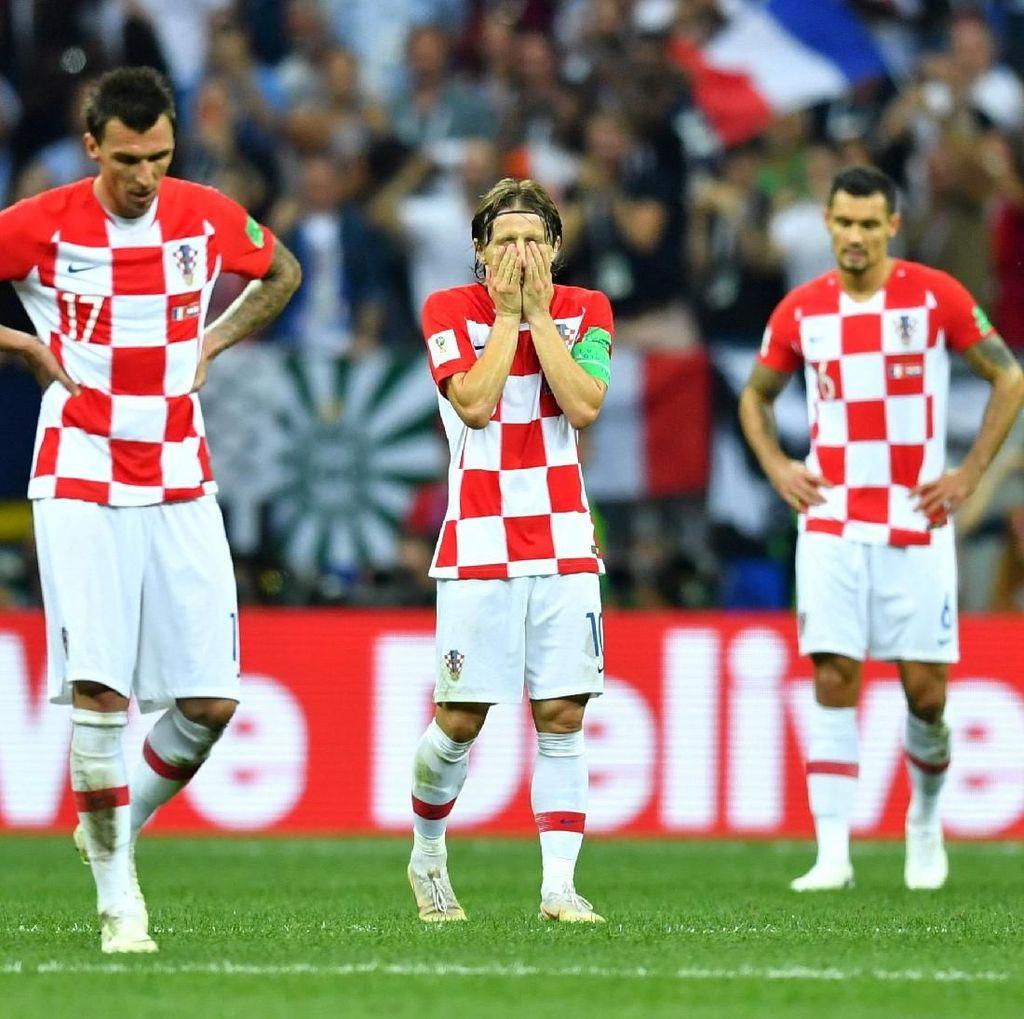 Potret Duka Pemain Kroasia Gagal Menjadi Juara Piala Dunia 2018