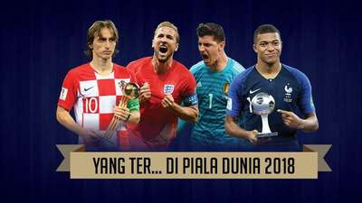 Ini Deretan Terbaik di Piala Dunia 2018
