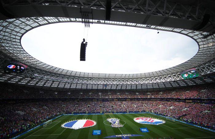 Pertandingan final antara Prancis melawan Kroasia digelar di Luzhniki Stadium, Minggu (15/7/2018) malam WIB. Reuters/Michael Dalder.